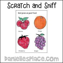 sunday school scratch and sniff fruit pictures bible craft