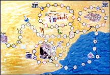 sunday school Map of Paul's Journeys bible craft