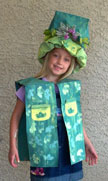 Earth day craft recycled paper bag vest and hat