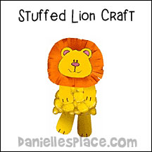Stuffed Lion Craft for Kids