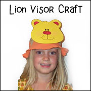 lion visor craft for kids craft