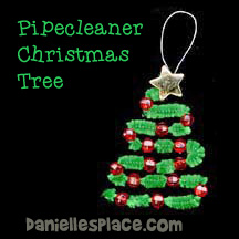 Pipecleaner Christmas Tree Craft for Kids from www.daniellesplace.com
