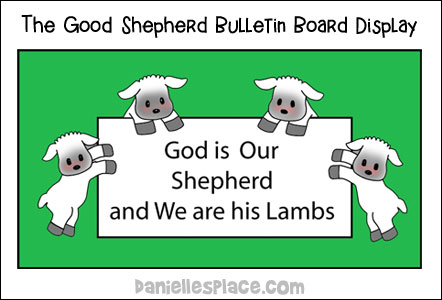The Good Shepherd - Sheep Bulletin Board Display