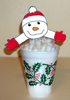 Hot Chocolate Mix with Marshmallow Snowman craft