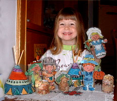 Thanksgiving Pilgrim Paper Dolls